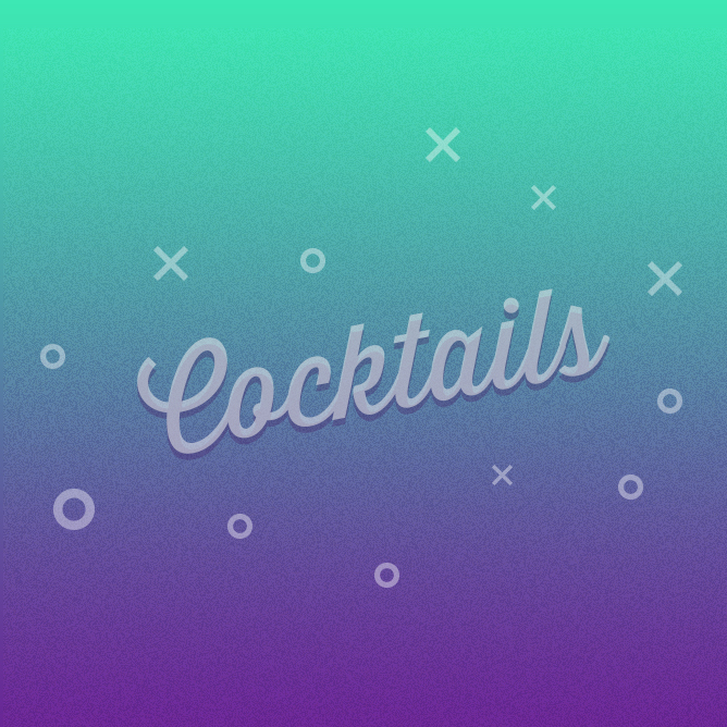 Illustrations de cocktails